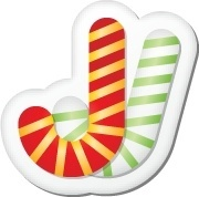 Xmas sticker candy cane