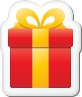 Xmas sticker gift