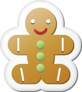 Xmas sticker gingerbread