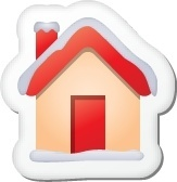 Xmas sticker home