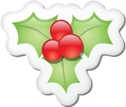 Xmas sticker mistletoe