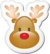 Xmas sticker reindeer