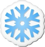 Xmas sticker snowflake