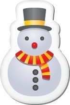Xmas sticker snowman