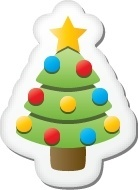 Xmas sticker tree