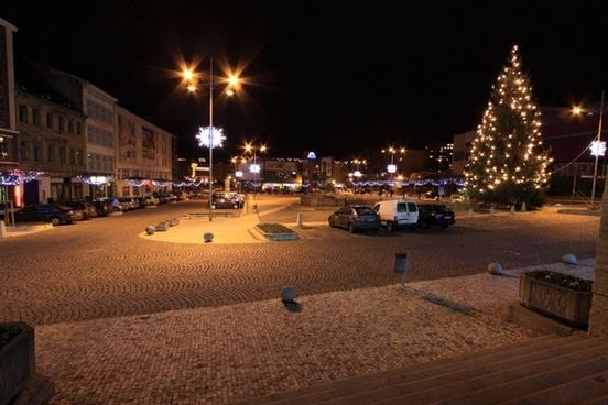 xmas town square