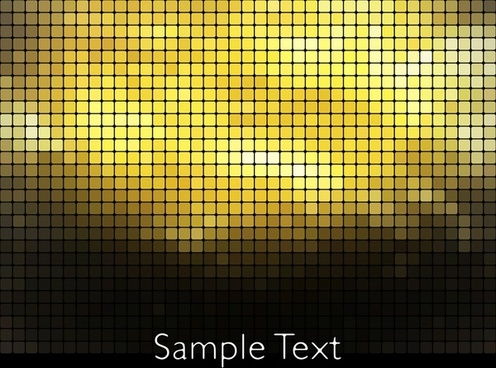 led lights background shiny golden squares modern design