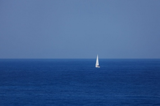 yacht at the sea
