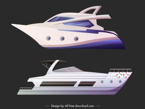 yacht icons modern luxury design