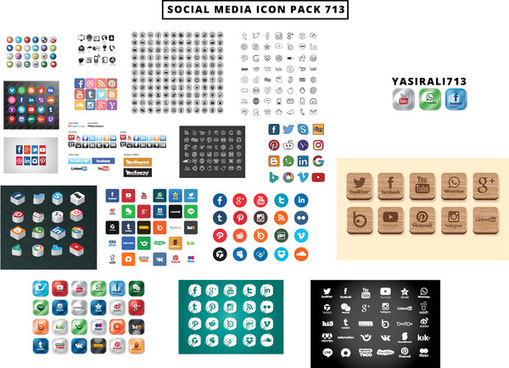 yasirali713social media icon vector 713