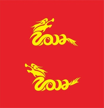 year of the dragon 2012 font graphics cdr vector