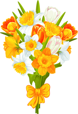 yellow and white flowers vector