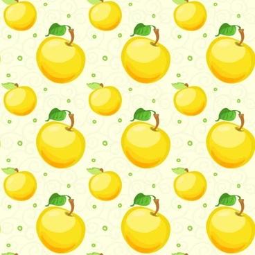 yellow apple vector pattern