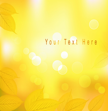 yellow autumn leaves vector backgrounds set
