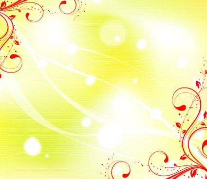 yellow background with red swirls
