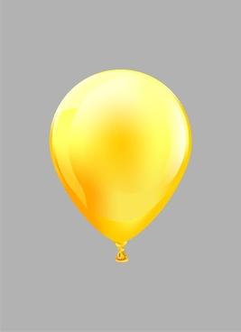 yellow ballon vector