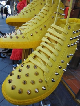 yellow boots sports boots fashion