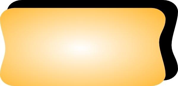 Yellow Button Shadow clip art