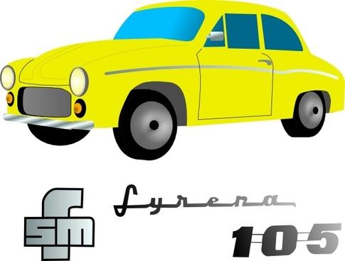 Yellow Car Vehicle clip art
