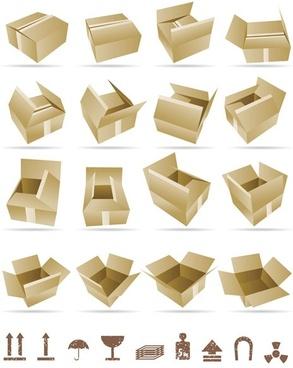 yellow cardboard 01 vector