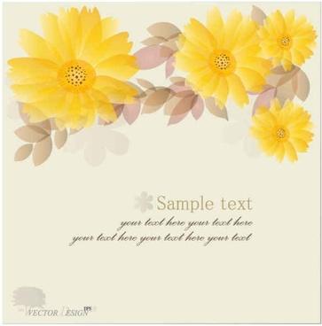 Yellow Chrysanthemum Vector Backgrounds