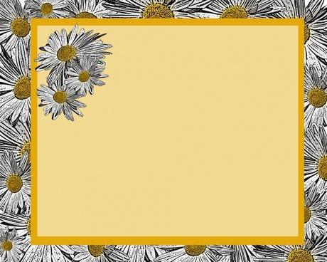 yellow daisy invitation