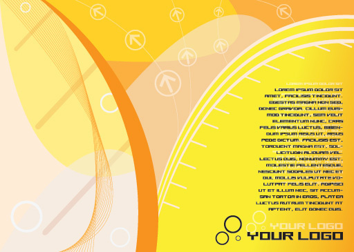 yellow flyer vector graphic