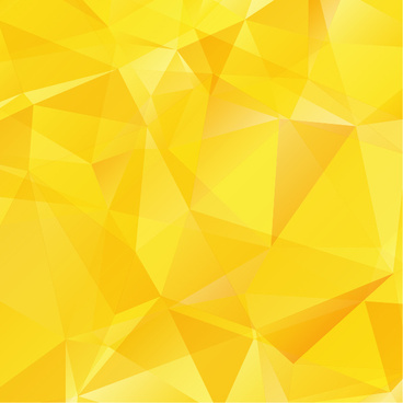 yellow geometric shapes background vector