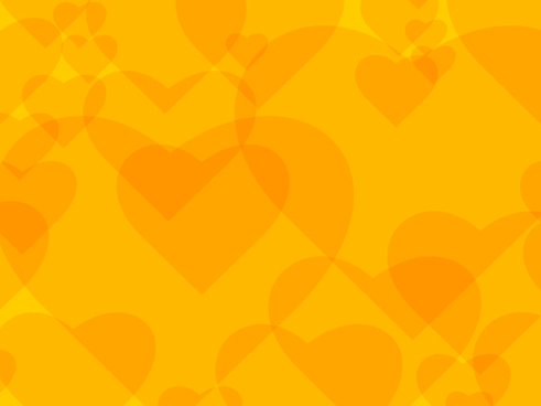 yellow heart background vector