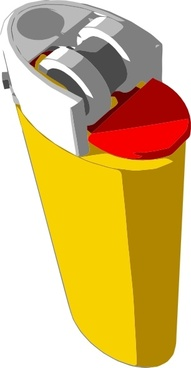 Yellow Lighter clip art