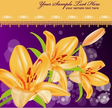 yellow flower background curtain violet bokeh backdrop decoration