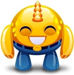 Yellow monster happy