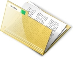 Yellow open document folder