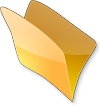 Yellow open folder