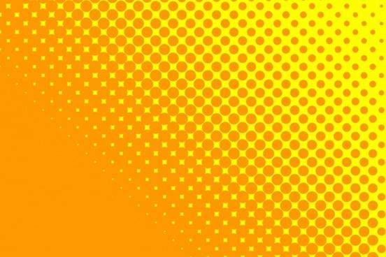 yellow orange dots