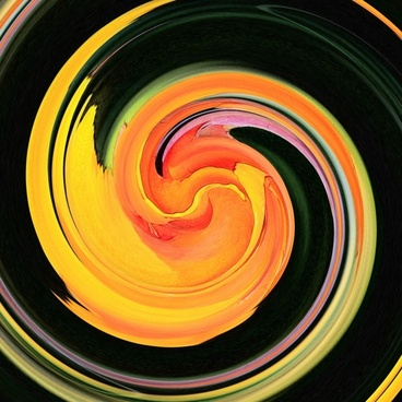 yellow red swirl