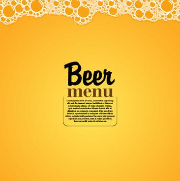yellow style beer menu vector