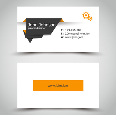 Free business card coreldraw cdr template free vector download yellow style business cards anyway surface template vector reheart
