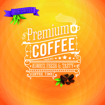 yellow style coffee background vector