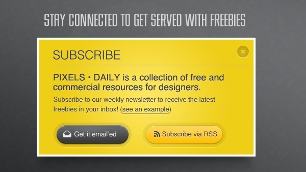 Yellow Subscribe Box PSD