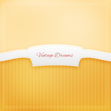 yellow vintage dream ribbon label