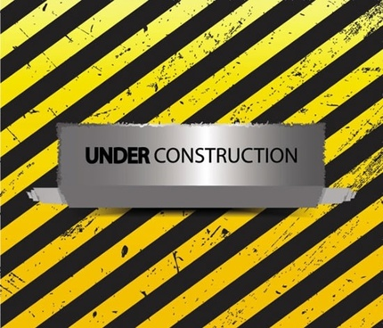 construction warning background grunge yellow stripes ragged paper