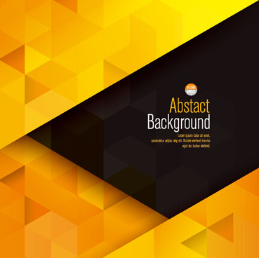 yellow with black modern abstract vector background