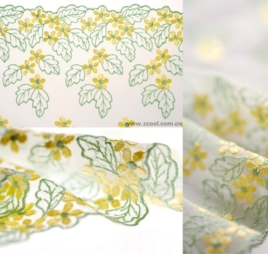yellowgreen gauze lace highdefinition picture 3p