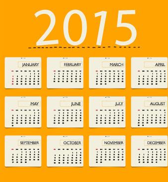 yellowness style calendar15 vector
