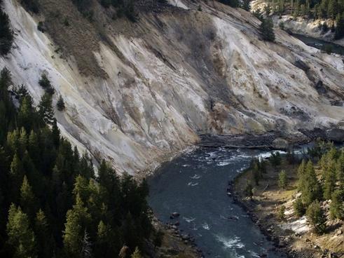 yellowstone river yellow stone national park wyoming