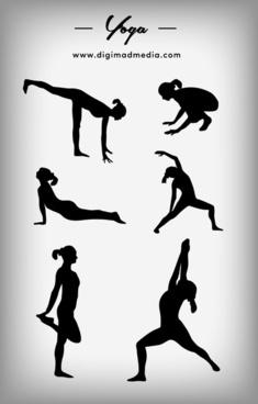 yoga icon silhouette vector design