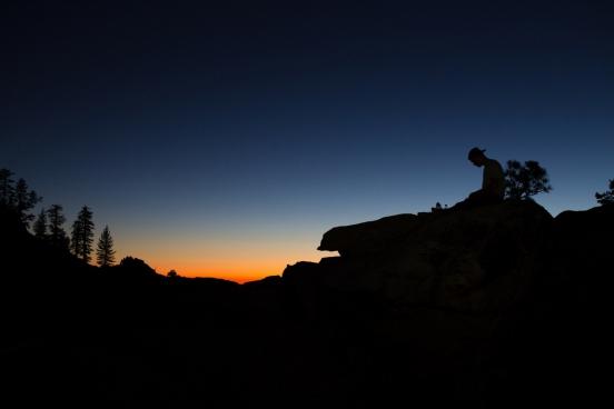 yosemite silhouette