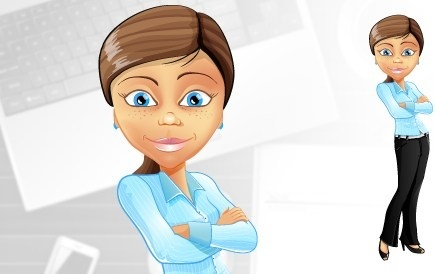 young businesswoman vector character