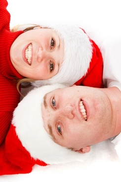 young couple at christmas